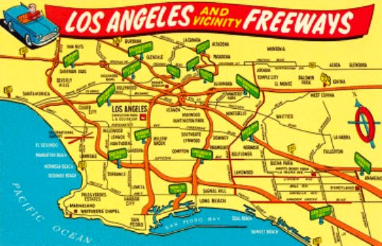 Los Angeles Map Funny - Los angeles freeway system map