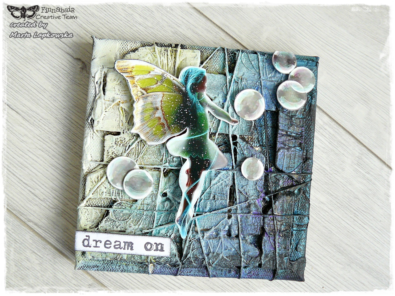 finnabair   u0026 39 dream on u0026 39  mini canvas by marta lapkowska