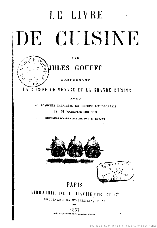 Les livres de recettes ancien donne relativement peut de recettes de