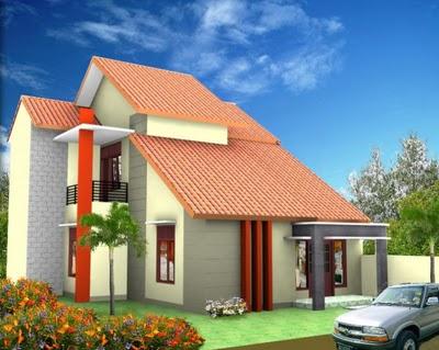 gambar rumah minimalis paling bagus dengan rangka atap
