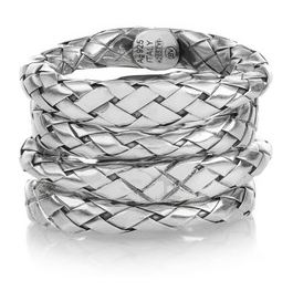Bottega Veneta Intrecciato Stacking Rings