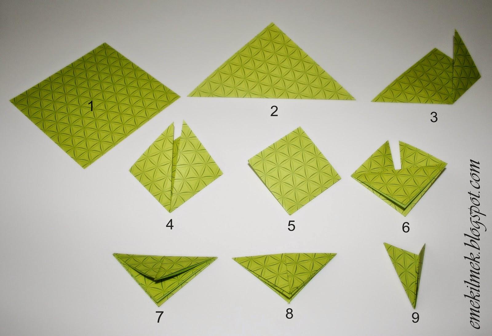 modüler origamide kağıt katlama