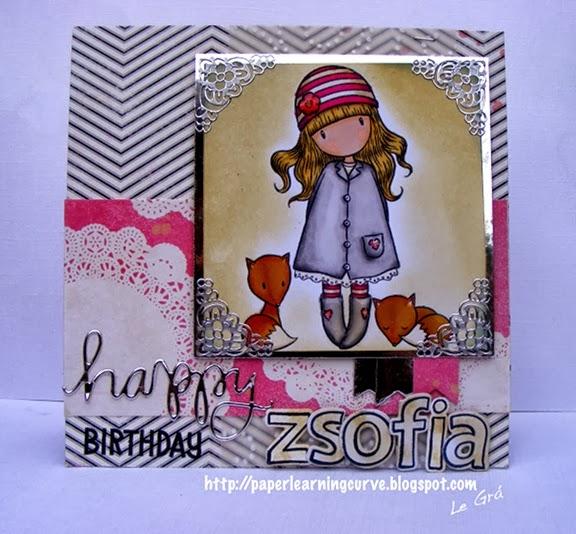 Gorjuss Little Foxes Lawn Fawn Quinn's ABCs Simon Says Stamp Birthday Card