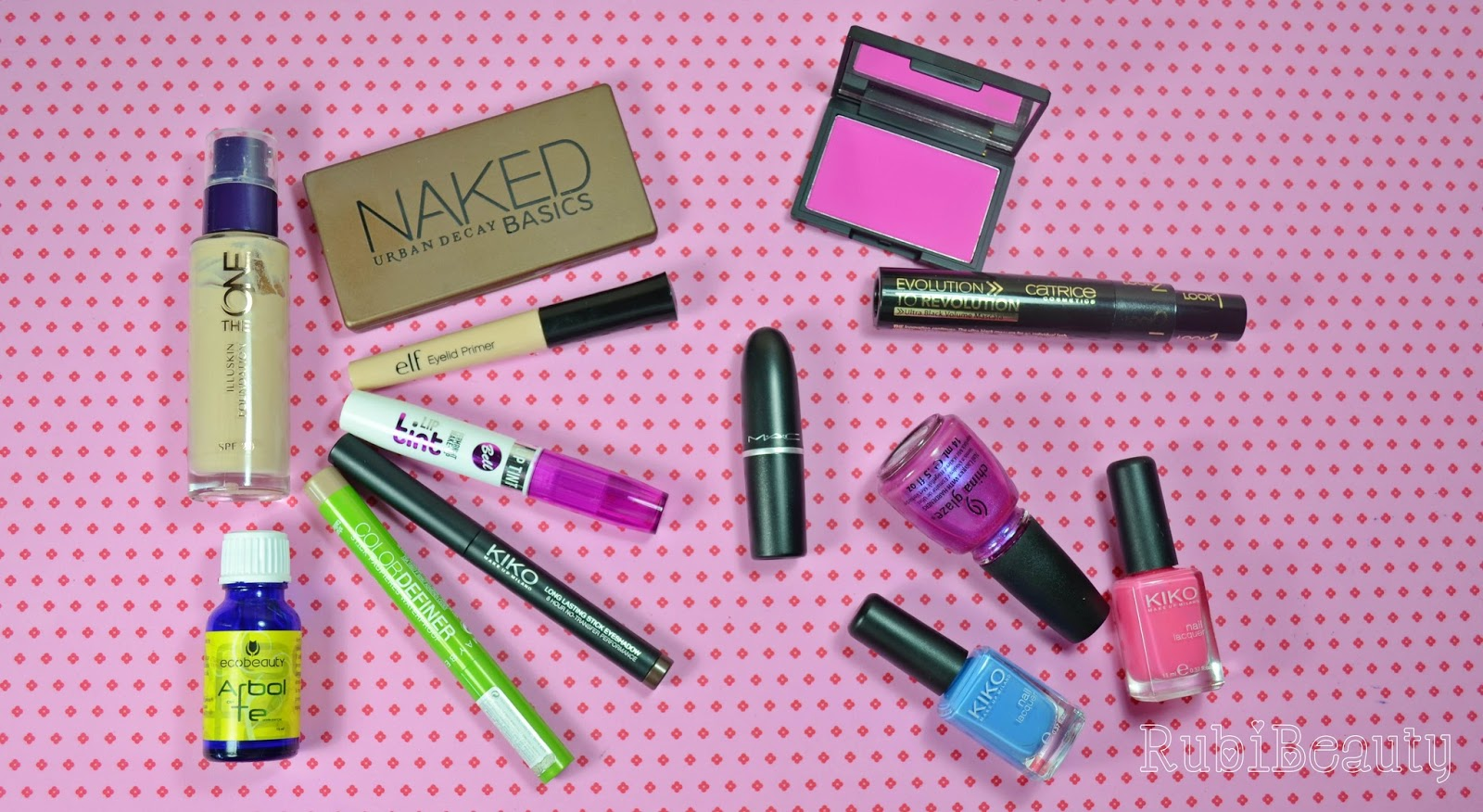 rubibeauty favoritos verano summer 2014 maquillaje uñas naked kiko bell MAC tea tree oil