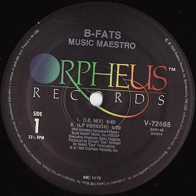 B-Fats – Music Maestro (1989, 12'', 192)