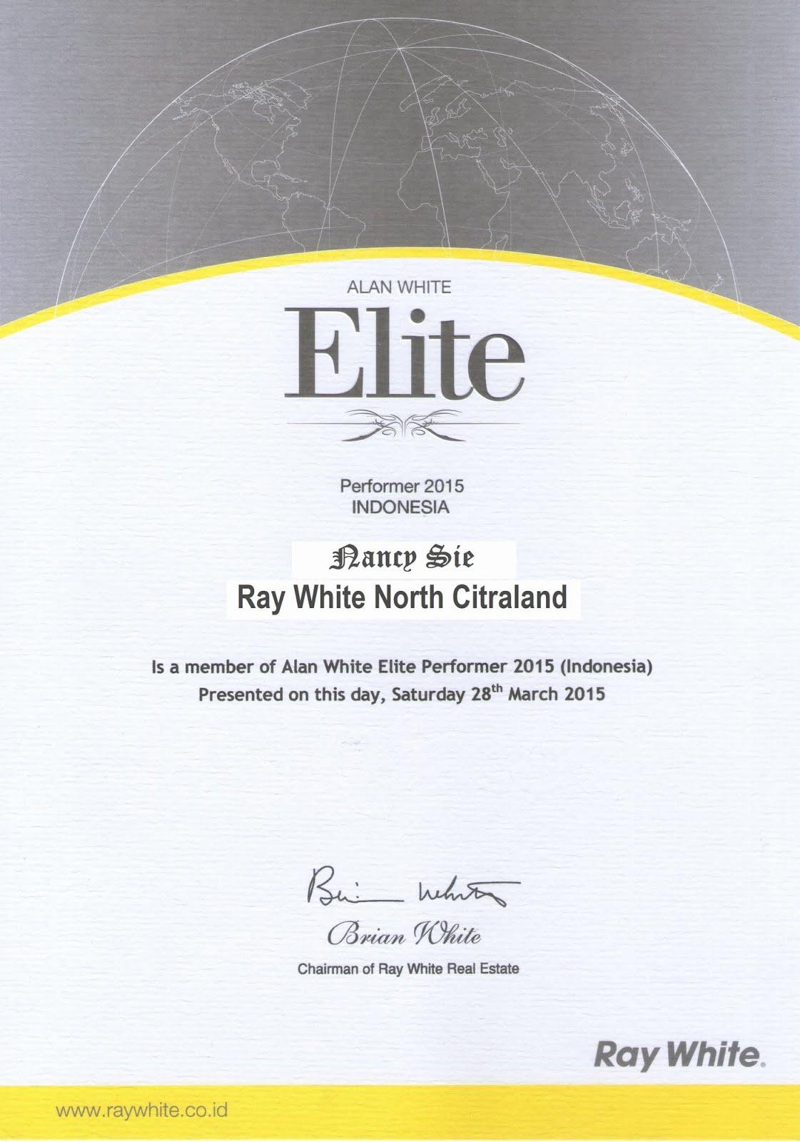 Elite Certificate
