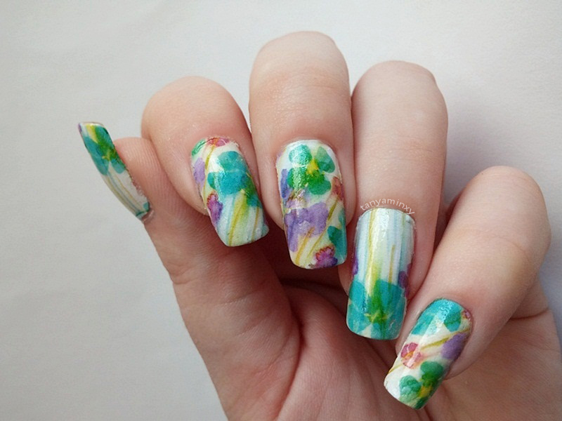 BPS Floral Flowers Water Decals Nails Nail Art Design Manicure