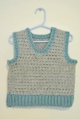 Free Crochet Pattern Newborn Vest : FREE BABY VEST PATTERN Lena Patterns