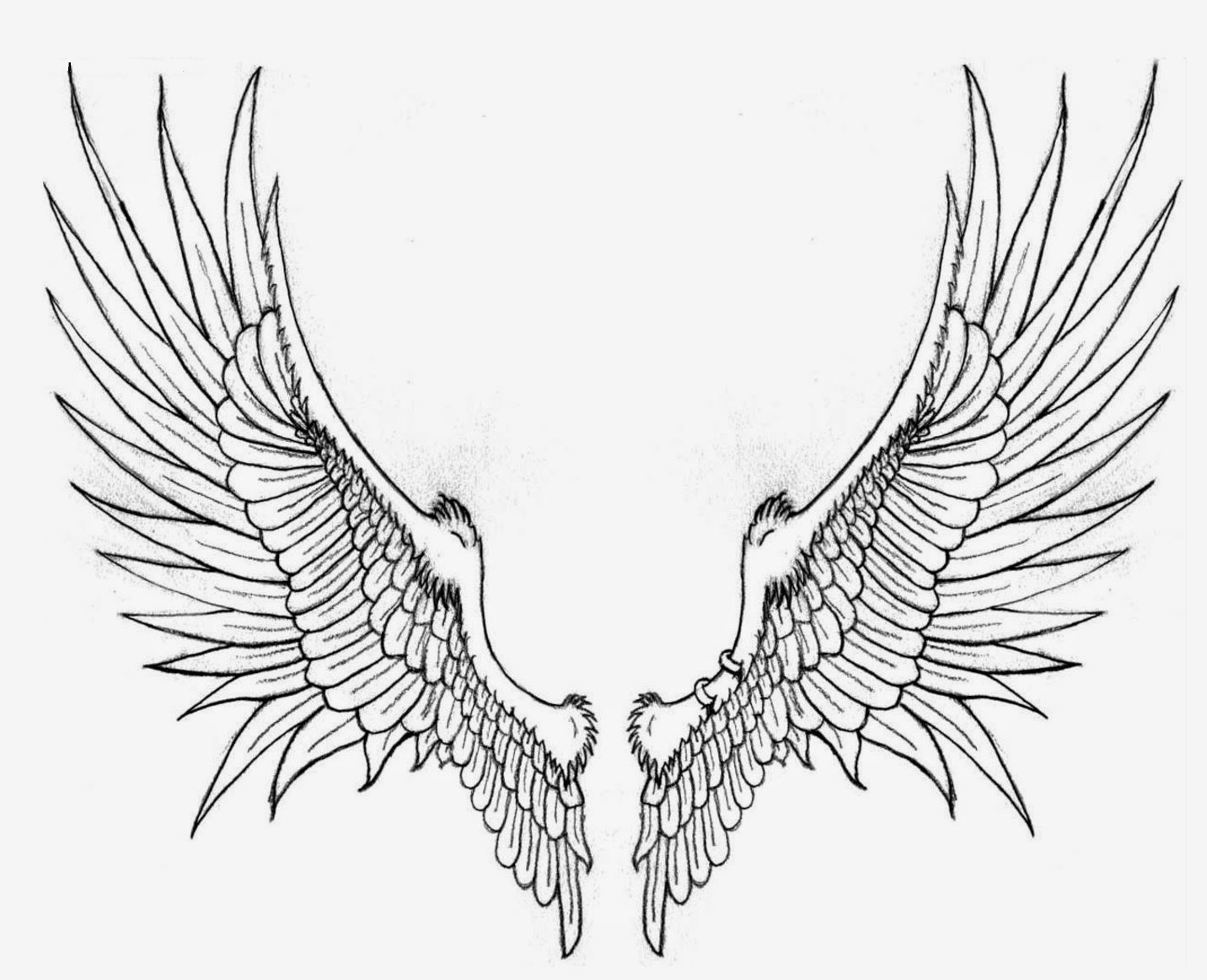 Superb image intended for angel wing stencil printable