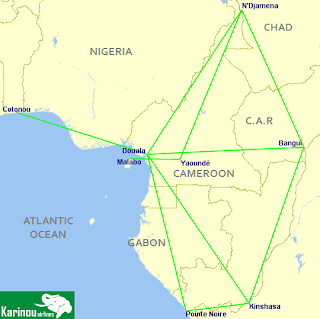 Karinou Airlines Route Network
