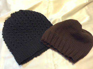 two knitted hats