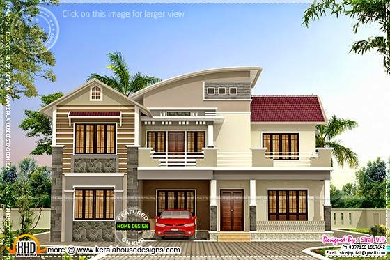 June 2014 kerala home design and floor plans for Modern house plans 2400 sq ft