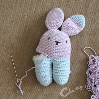 Made by Charry crocheted toy bunny