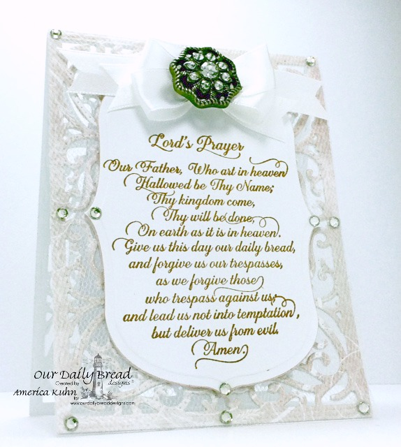 Stamps - Our Daily Bread Designs Lord's Prayer Script, ODBD Custom Dies: Vintage Flourish Pattern