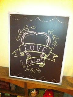 DIY Chalkboard Subway Sign