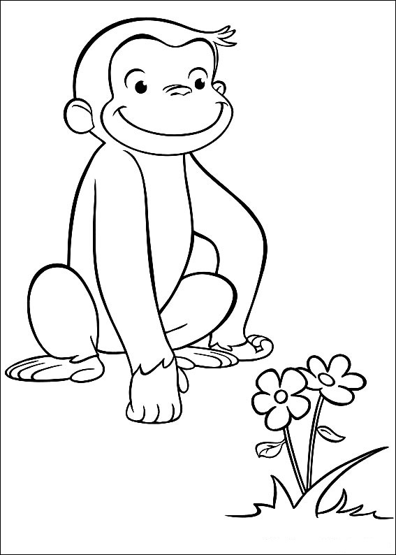coloring pages of curious george - photo#3