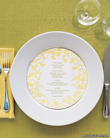 Menú en amarillo