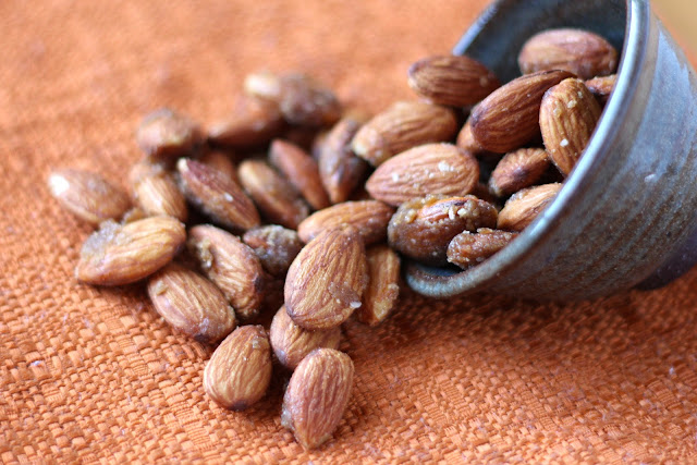 Ginger and Honey Roasted Almonds recipe by Barefeet In The Kitchen