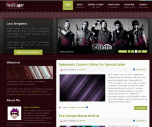 Red Sugar Blogger Template