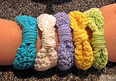 free crochet pattern bow bracelet