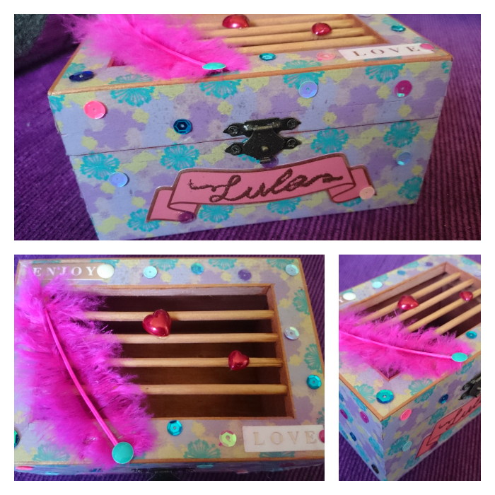 Caja alterada washi tape