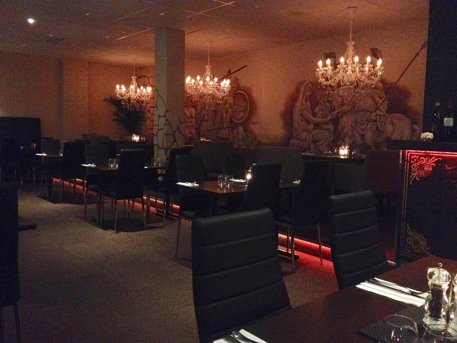 dining room of Greek restaurant in Vasteras