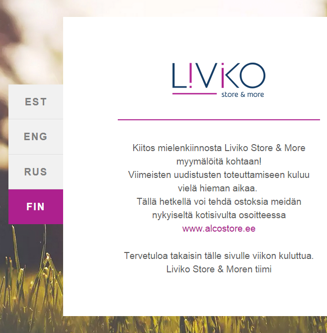 Liviko, Alcostore, Livikostore, Tallinna tutuksi, Tallinna