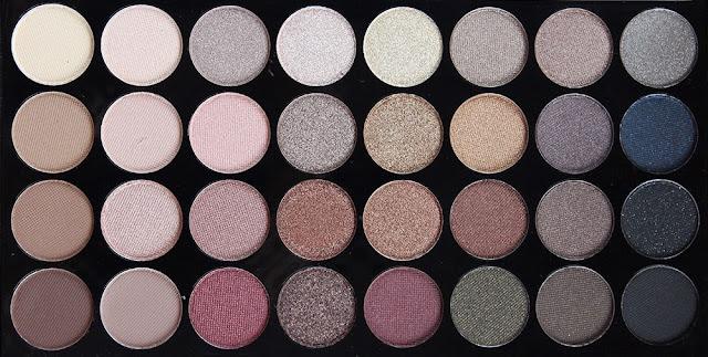 makeup revolution flawless paletka očních stínů kosmetika