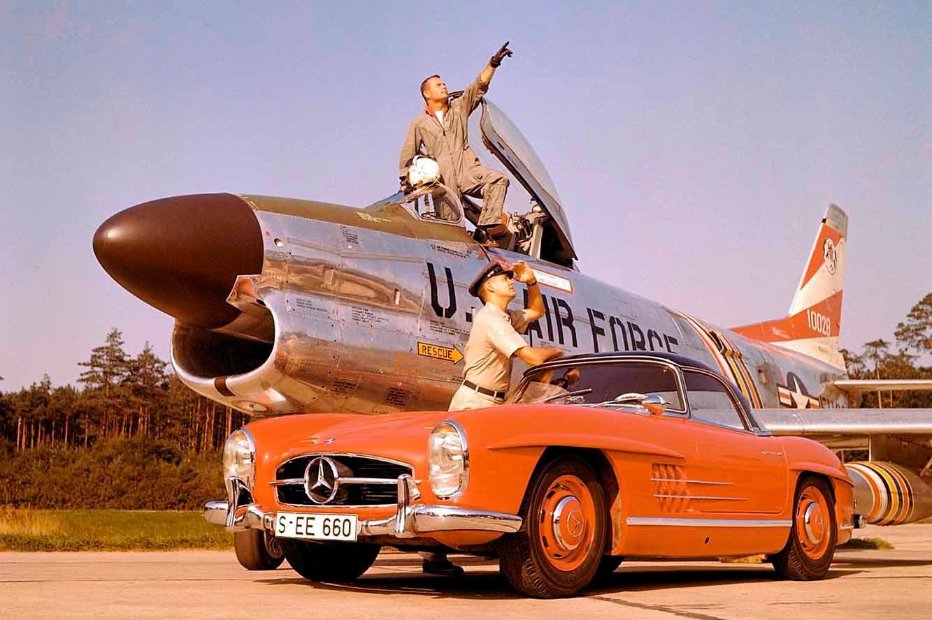 Photo Mercedes 300 SL Gullwing 1954 صور سيارات: مرسيدس 300 اس ال 1954 نادرة