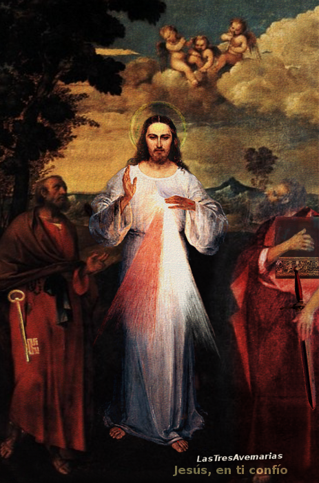 jesus misericordioso y apostoles san pedro y san pablo piedras vivas de la iglesia