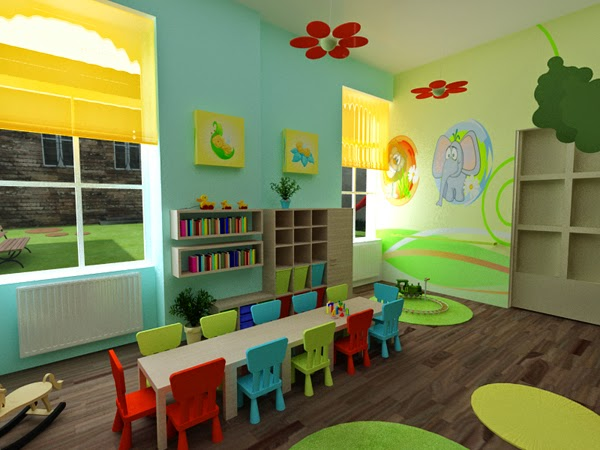 Classroom Decoration Colors ~ Design inspiration beautiful model school kindergarten a