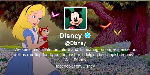 Best Cool Twitter Headers Disney cartoon