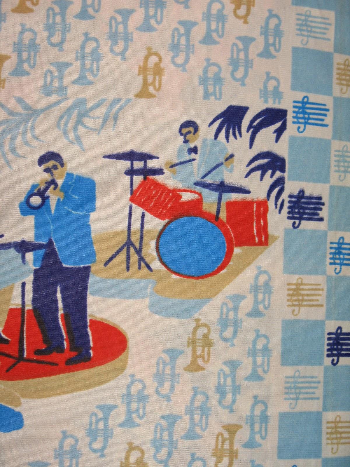 40s vintage novelty print jazz era