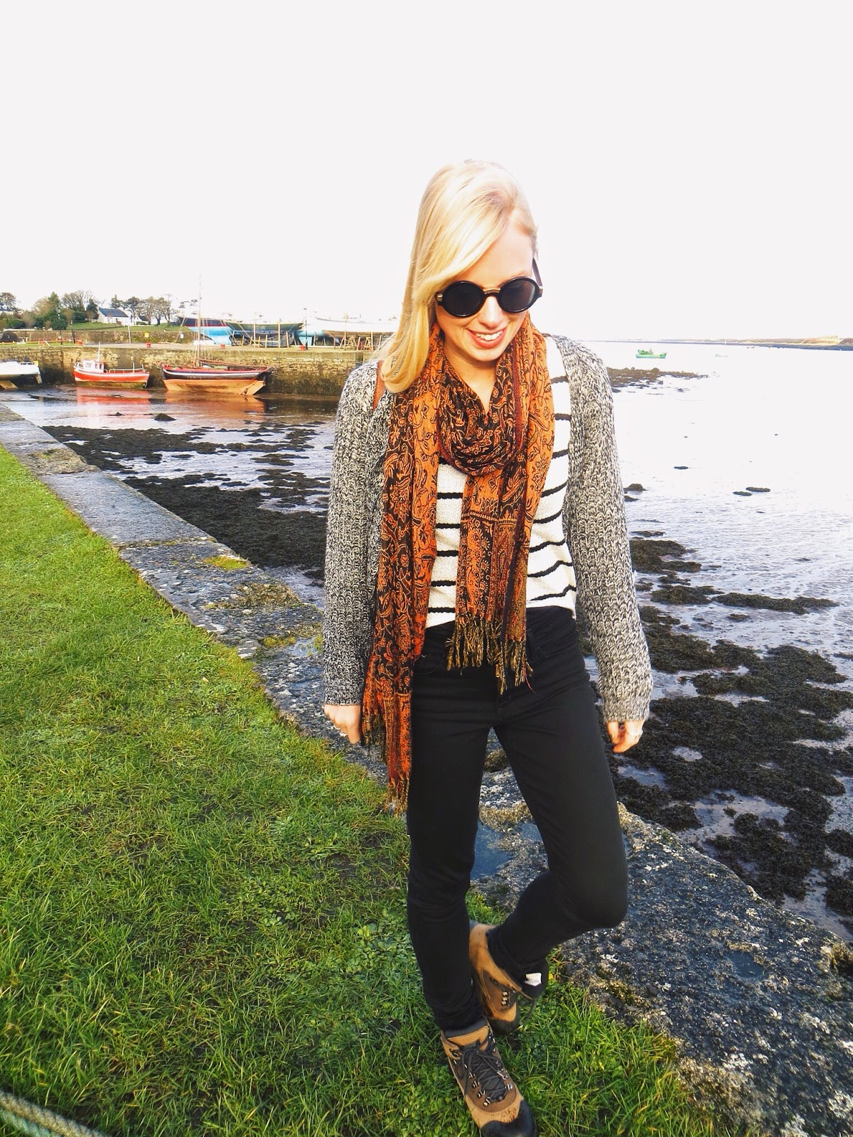deb striped sweater, freyrs steampunk sunglasses, travel, ireland, cliffs of moher, travel tips