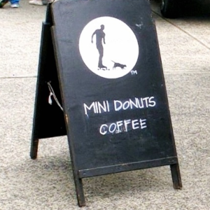 coffee tent sign