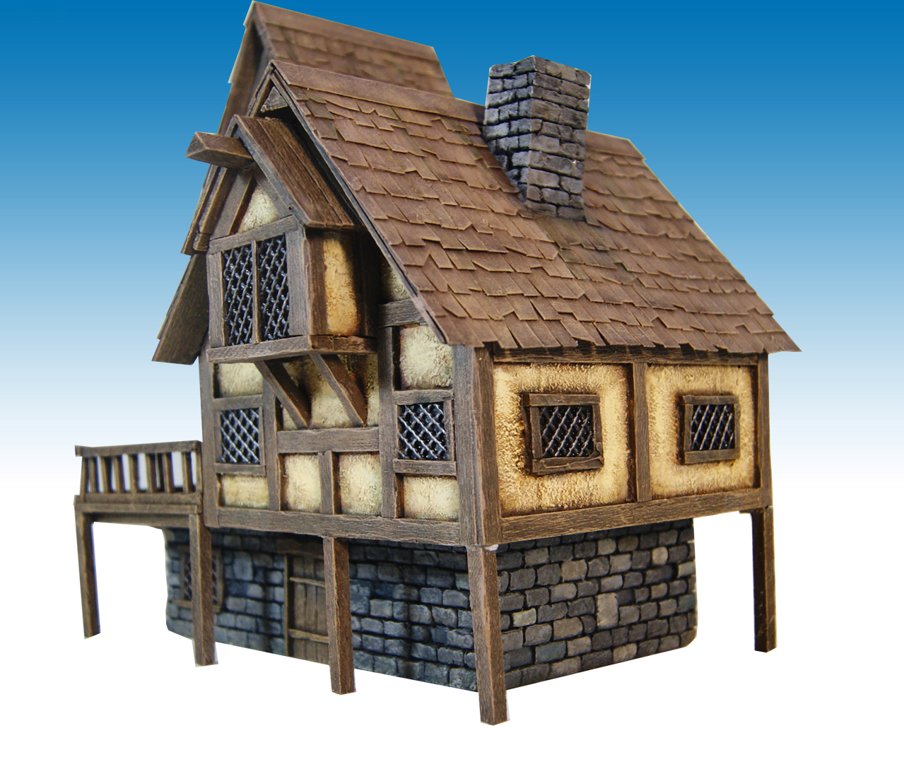 Miniature Warfare Medieval House Nr 2 Finished