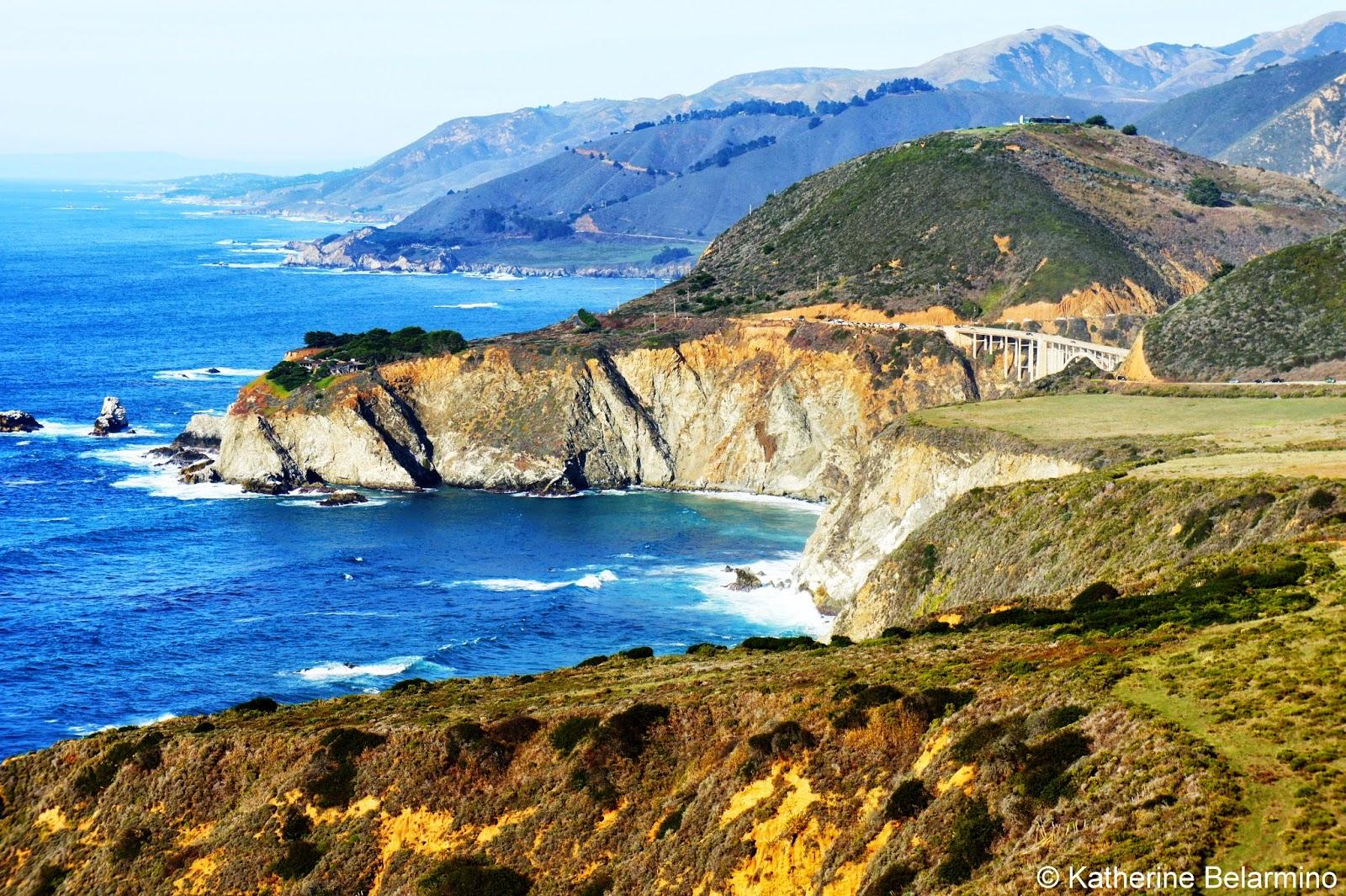 Bixby Bridge California Coastal Drive Through Big Sur