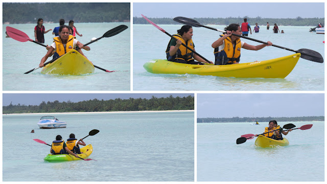 Kayaking at Minicoy Island