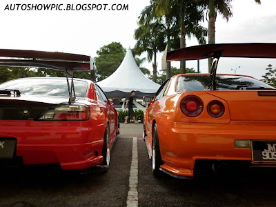 Silvia S15 and Skyline R34 GT-T