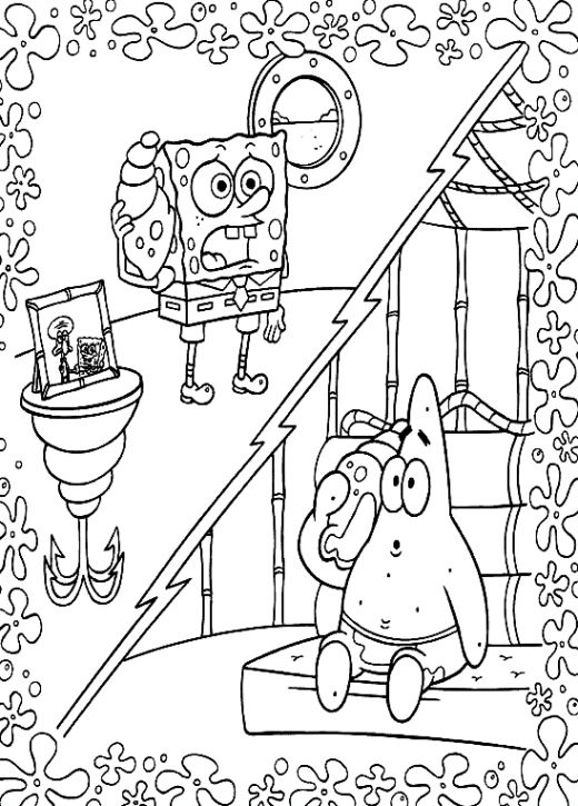 Fun Coloring Pages Spongebob Coloring