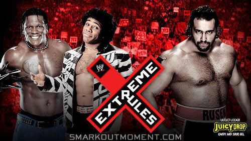 WWE Extreme Rules 2014 PPV Alexander Rusev Handicap Match Xavier Woods R-Truth