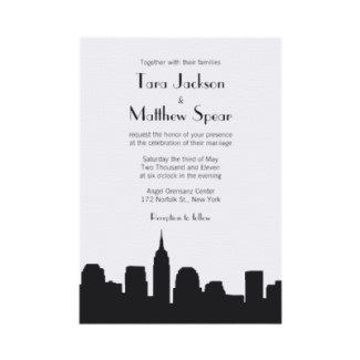 or why not go with a sleek invitation of a nyc skyline fewer things represent the satc series than manhattan so show the city right in the invite