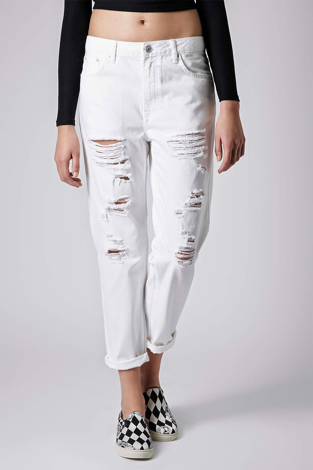 white ripped topshop jeans