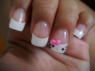 Hello Kitty nail manicure