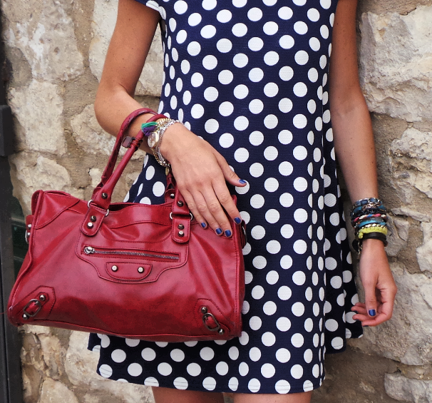 In RED love with Sicily - red Balenciaga bag