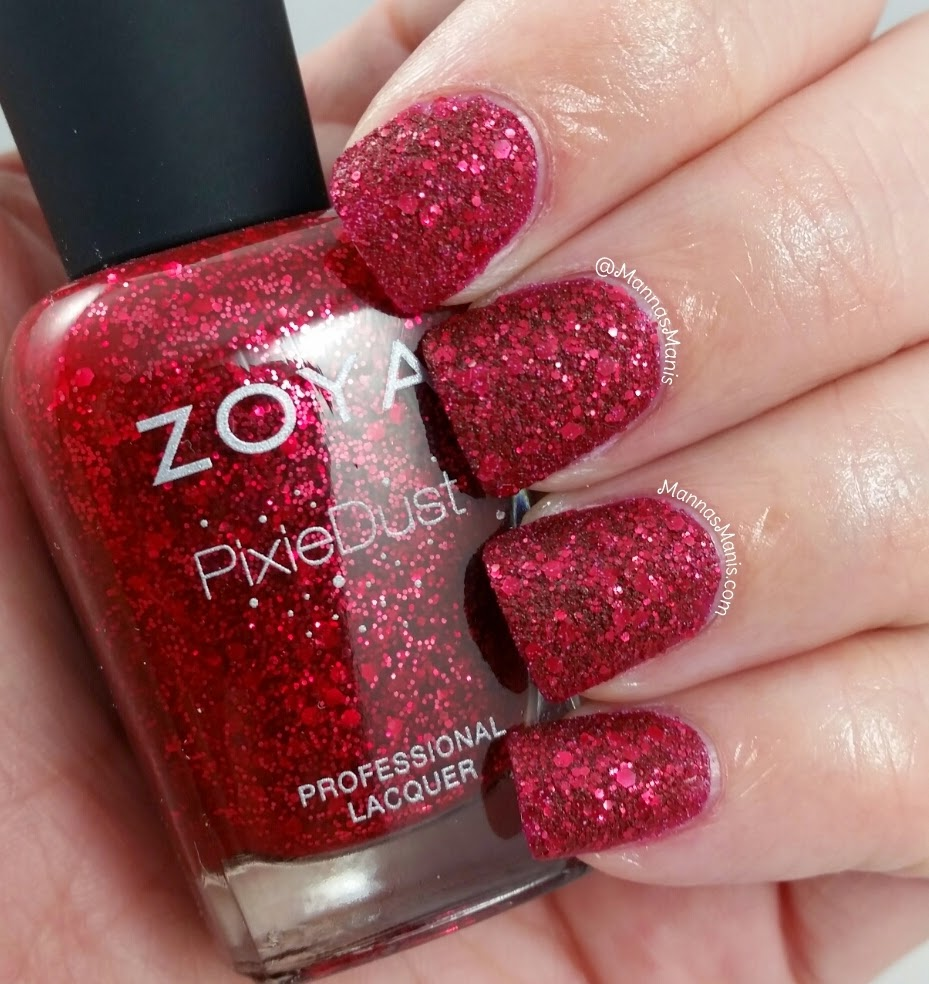 zoya oswin, a red textured nail polish
