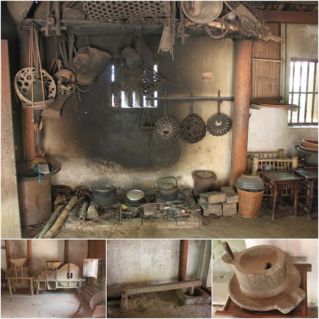 Kitchen area of a wealthy family in Thanh Hoa province at Museum of Ethnology in Hanoi, Vietnam