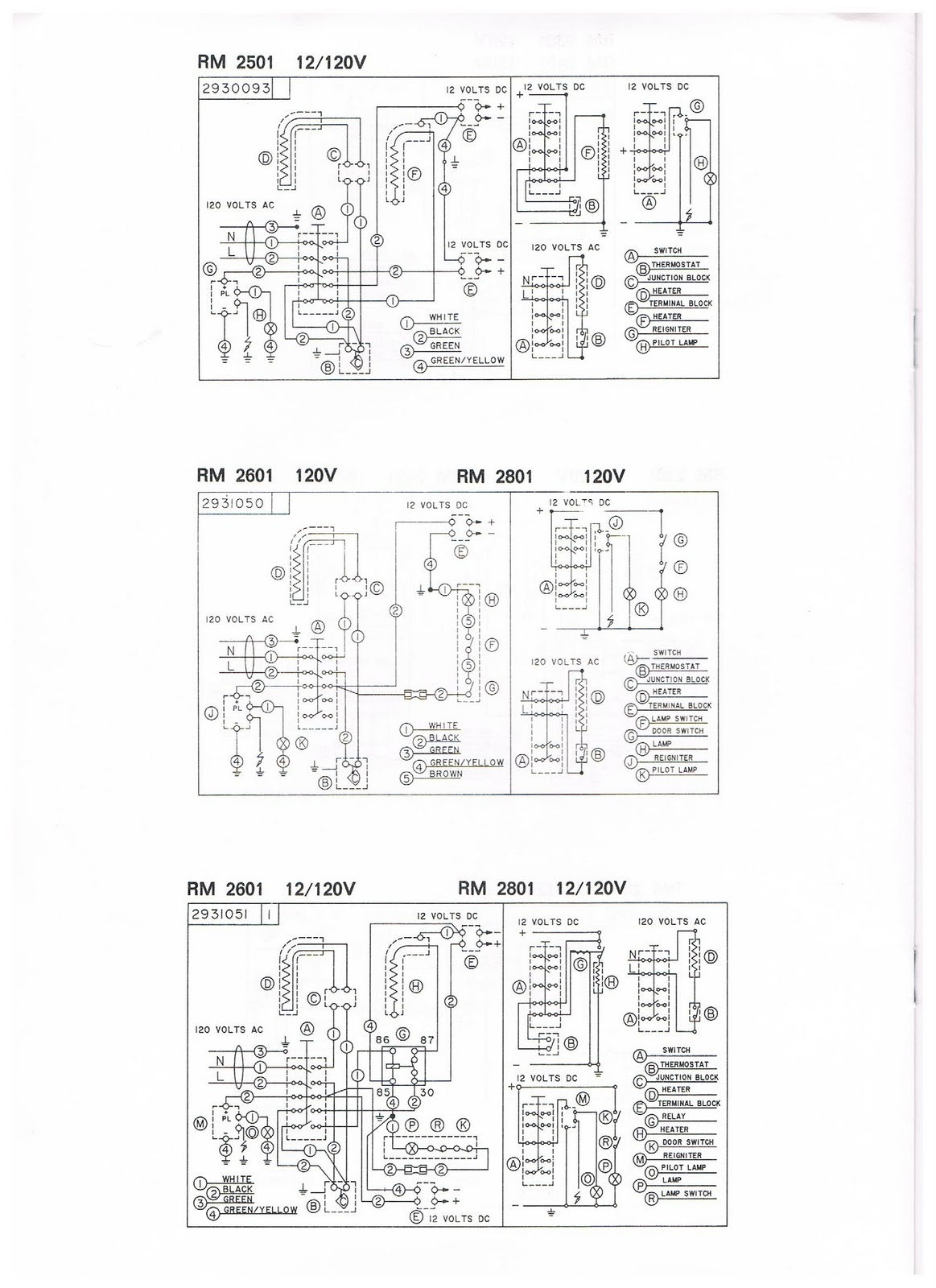 1983 Fleetwood Pace Arrow Owners Manuals Dometic 2 Way Refrigerator 85 Wiring Diagram Posted By Vintage Travel Trailers At 718 Pm