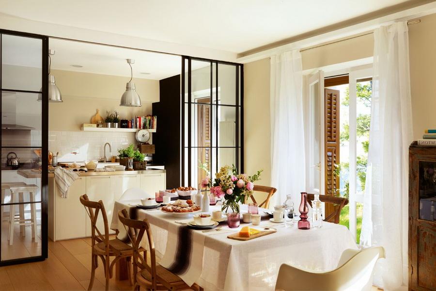 Arquitetura do im vel cozinha e sala de jantar for Cocina y salon unidos