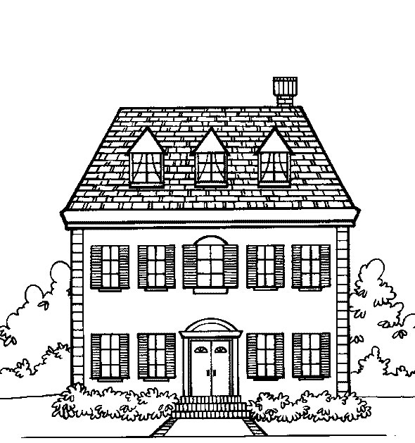 Printable school building coloring pages building wall for School building coloring pages